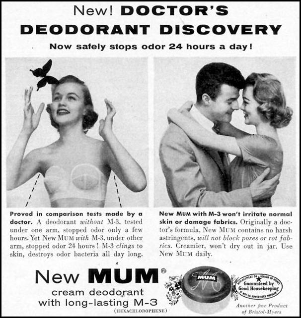 MUM DEODORANT WOMAN'S DAY 07/01/1955 p. 111