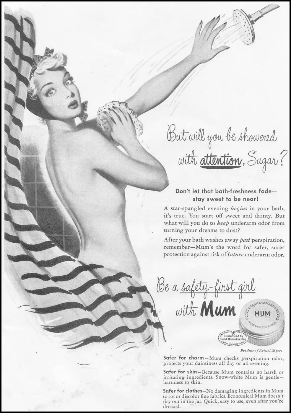 MUM DEODORANT GOOD HOUSEKEEPING 07/01/1948 p. 1