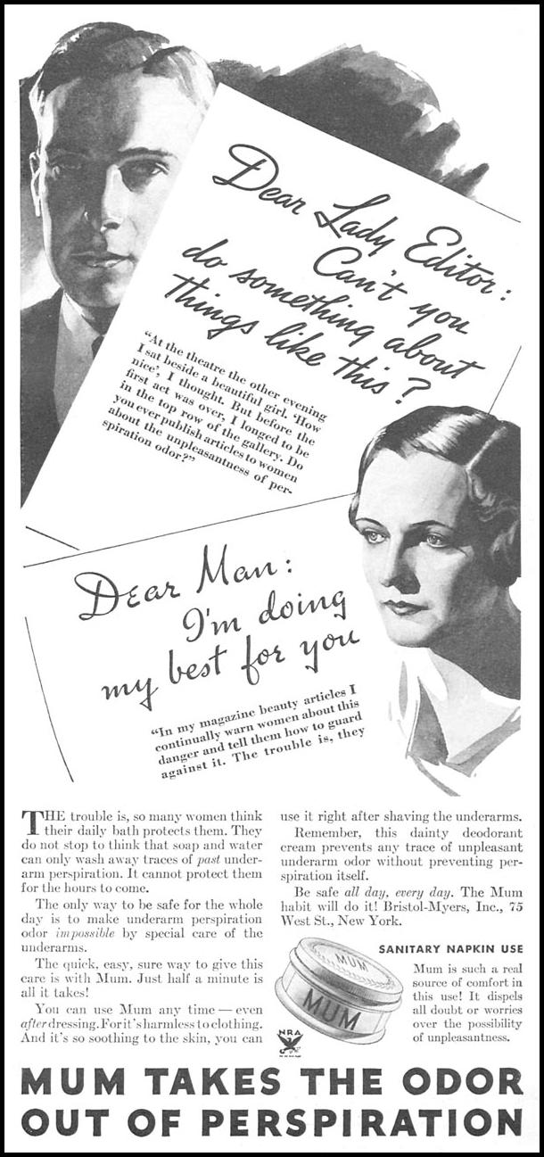 MUM DEODORANT GOOD HOUSEKEEPING 06/01/1935 p. 181