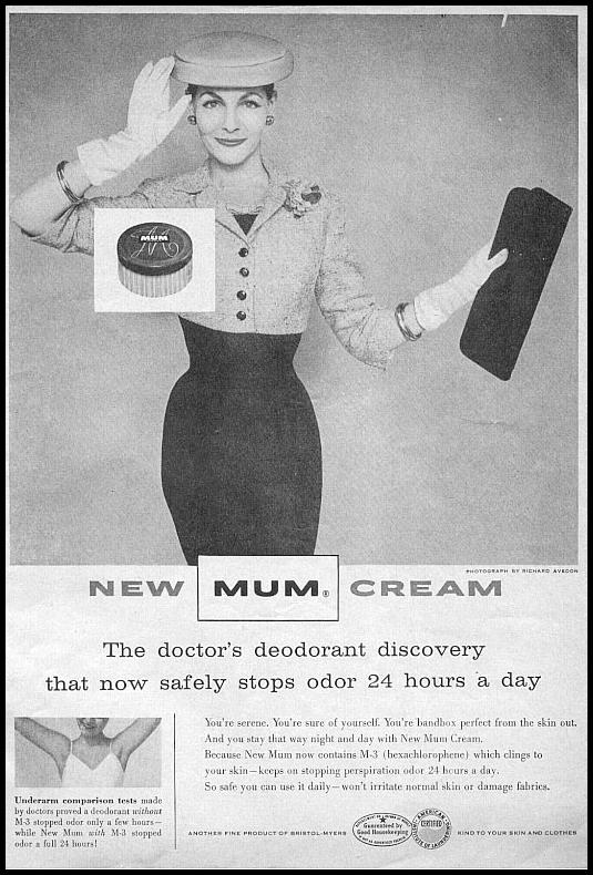 MUM DEODORANT CREAM PHOTOPLAY 08/01/1956 p. 1