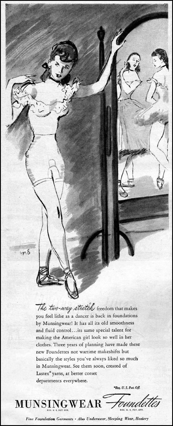 MUNSINGWEAR FOUNDETTES LIFE 03/12/1945 p. 4