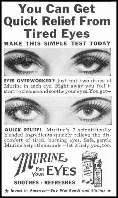 MURINE EYE DROPS LIFE 02/14/1944 p. 102
