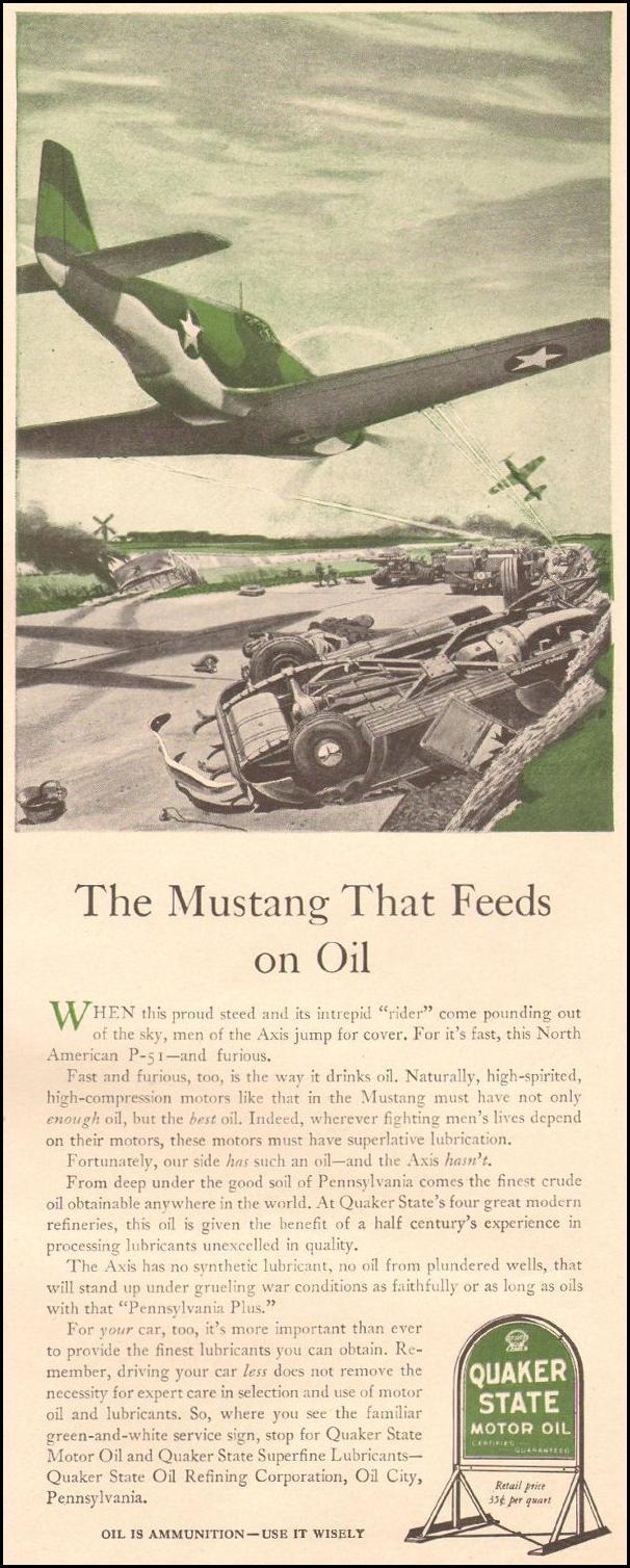 QUAKER STATE MOTOR OIL LIFE 08/09/1943 p. 99