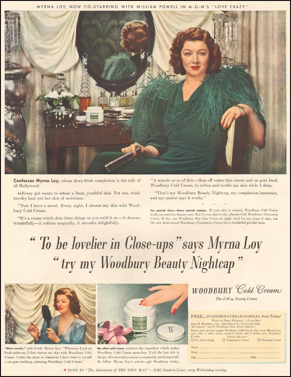 WOODBURY COLD CREAM LIFE 08/04/1941 p. 37