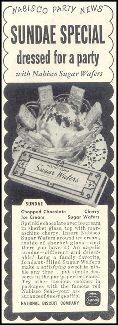 NABISCO SUGAR WAFERS GOOD HOUSEKEEPING 07/01/1948 p. 120