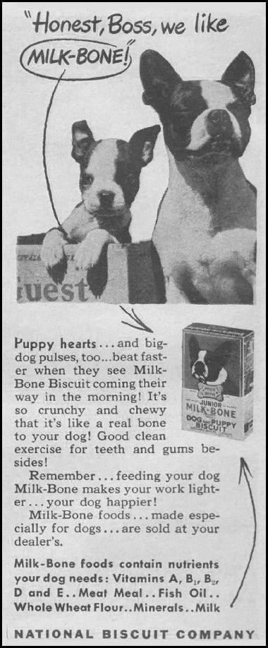 MILK-BONE DOG BISCUITS LIFE 03/12/1945 p. 114