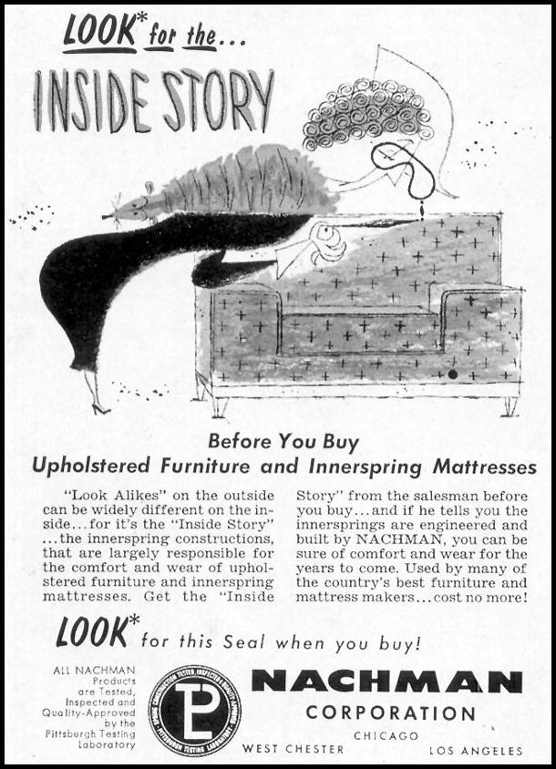 NACHMAN FURNITURE SATURDAY EVENING POST 10/29/1955 p. 126