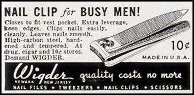 WIGDER NAIL CLIPPERS LIFE 09/30/1940 p. 97