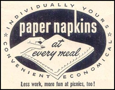 PAPER NAPKINS GOOD HOUSEKEEPING 07/01/1949 p. 188