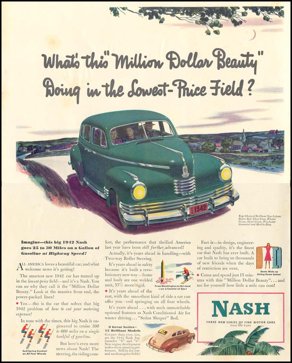 NASH AUTOMOBILES LIFE 10/13/1941 INSIDE FRONT
