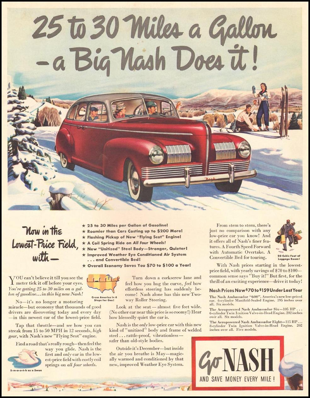 NASH AUTOMOBILES LIFE 12/16/1940 INSIDE FRONT