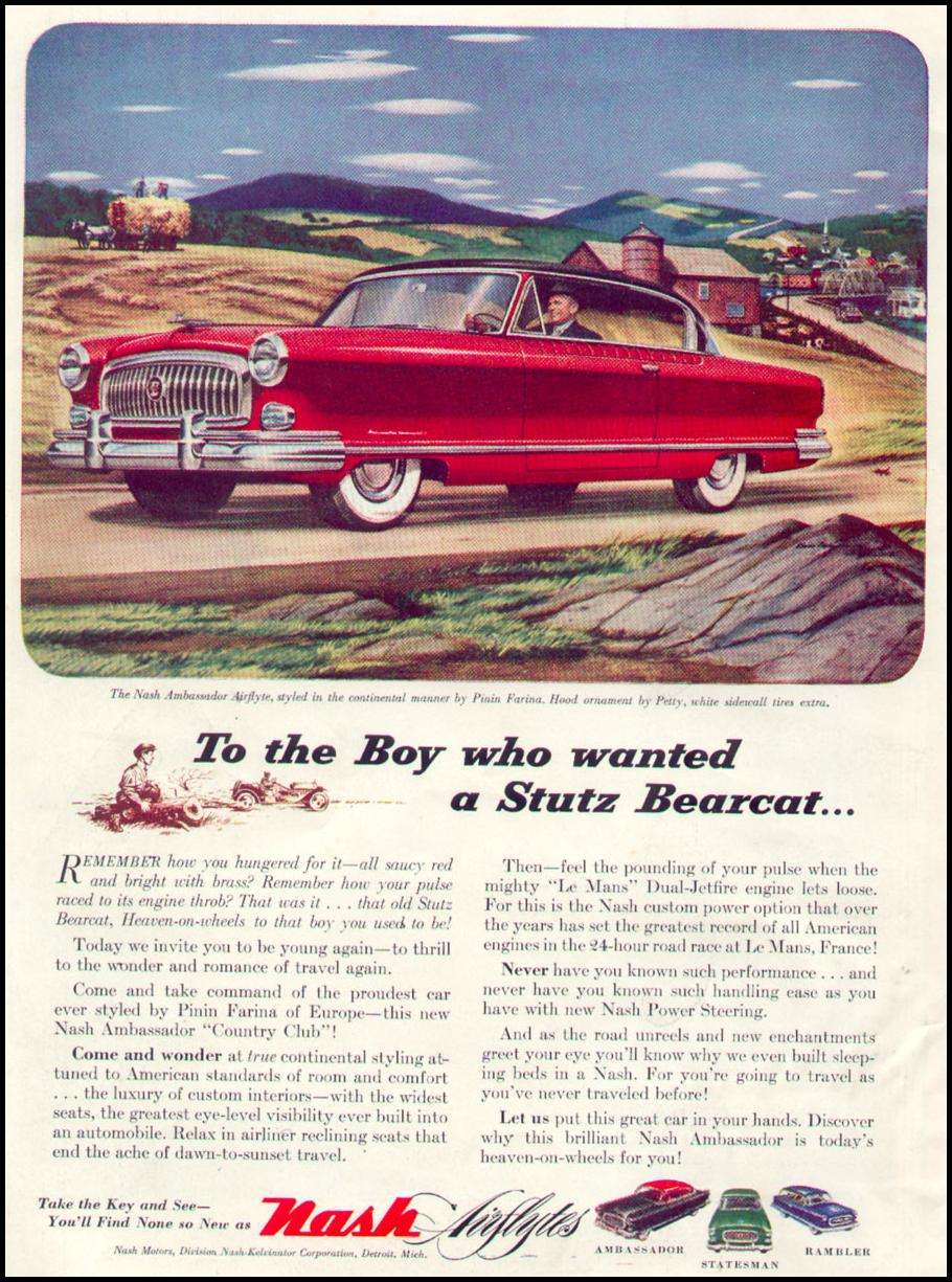 NASH AUTOMOBILES TIME 08/17/1953 INSIDE FRONT