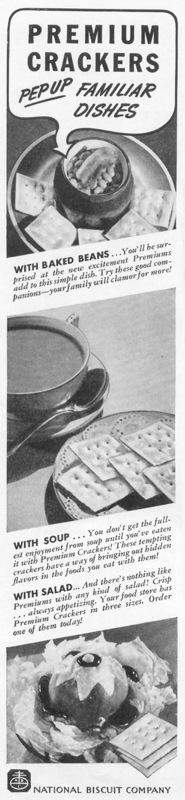 PREMIUM SALTED CRACKERS WOMAN'S DAY 04/01/1939 p. 34