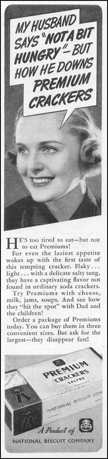 PREMIUM SALTED CRACKERS WOMAN'S DAY 04/01/1939 p. 35