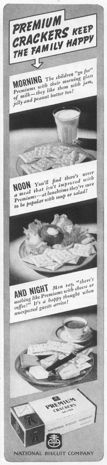 PREMIUM SALTED CRACKERS WOMAN'S DAY 05/01/1939 p. 35