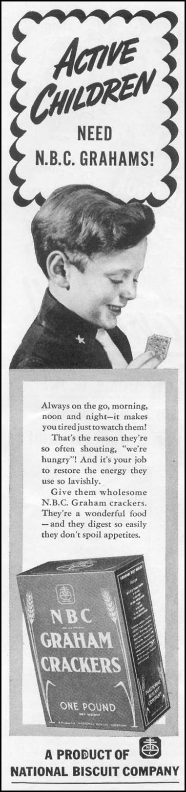 NBC GRAHAM CRACKERS WOMAN'S DAY 06/01/1939 p. 36