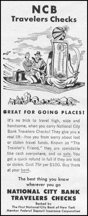 NCB TRAVELERS CHECKS LIFE 11/14/1955 p. 170