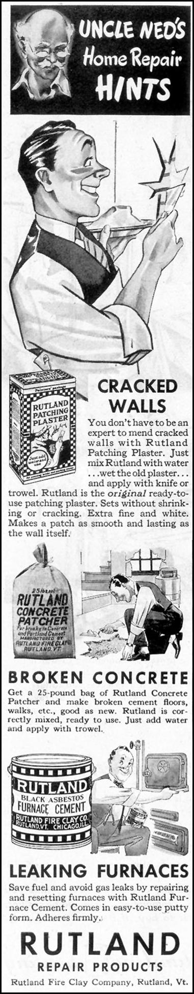 RUTLAND REPAIR PRODUCTS SATURDAY EVENING POST 05/19/1945 p. 70