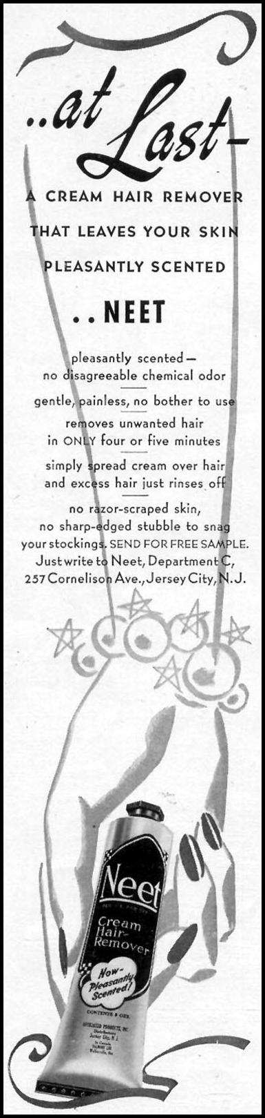 NEET CREAM HAIR REMOVER WOMAN'S DAY 09/01/1940 p. 2