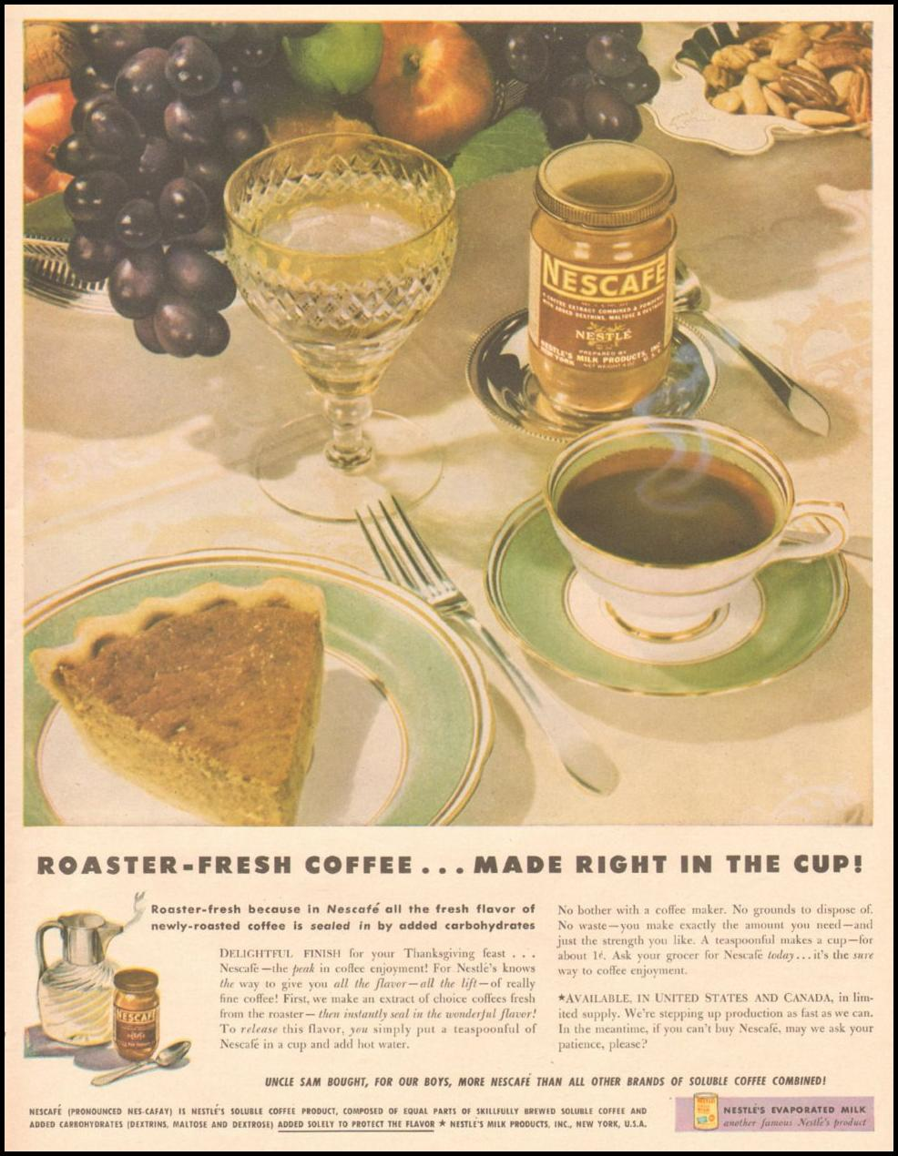 NESCAFE INSTANT COFFEE LIFE 11/25/1946