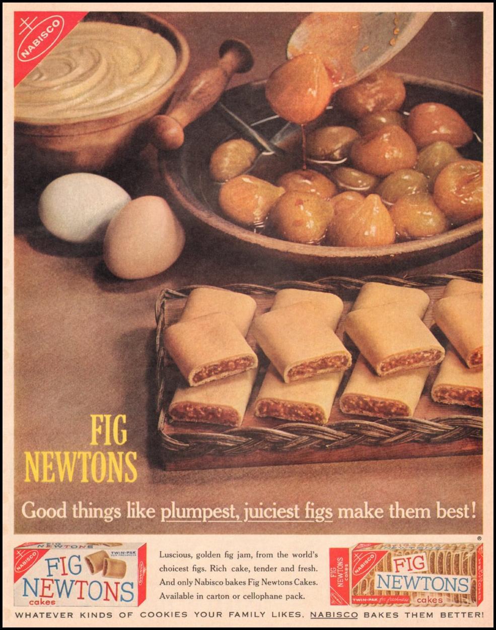 NABISCO  FIG NEWTONS LIFE 05/05/1961
