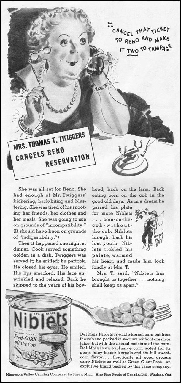 GREEN GIANT DEL MAIZ NIBLETS BRAND CORN GOOD HOUSEKEEPING 12/01/1935 p. 166