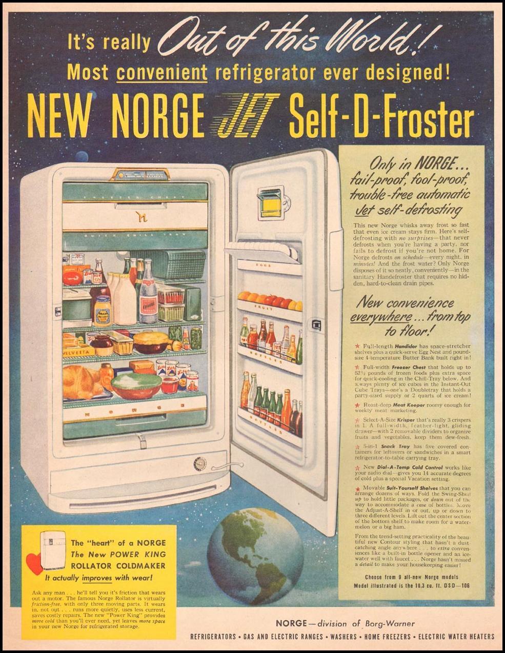 NORGE REFRIGERATORS LIFE 04/30/1951 p. 54
