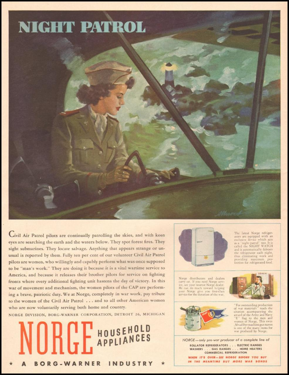 NORGE HOUSEHOLD APPLIANCES LIFE 10/25/1943