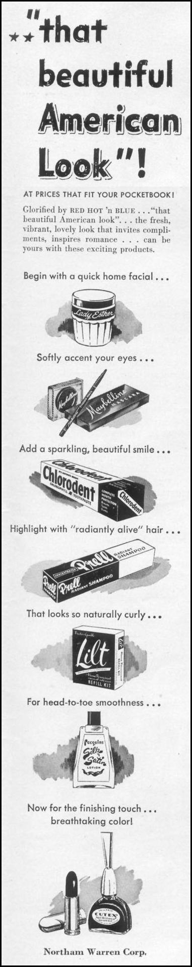 BEAUTY PRODUCTS LIFE 10/13/1952 p. 155
