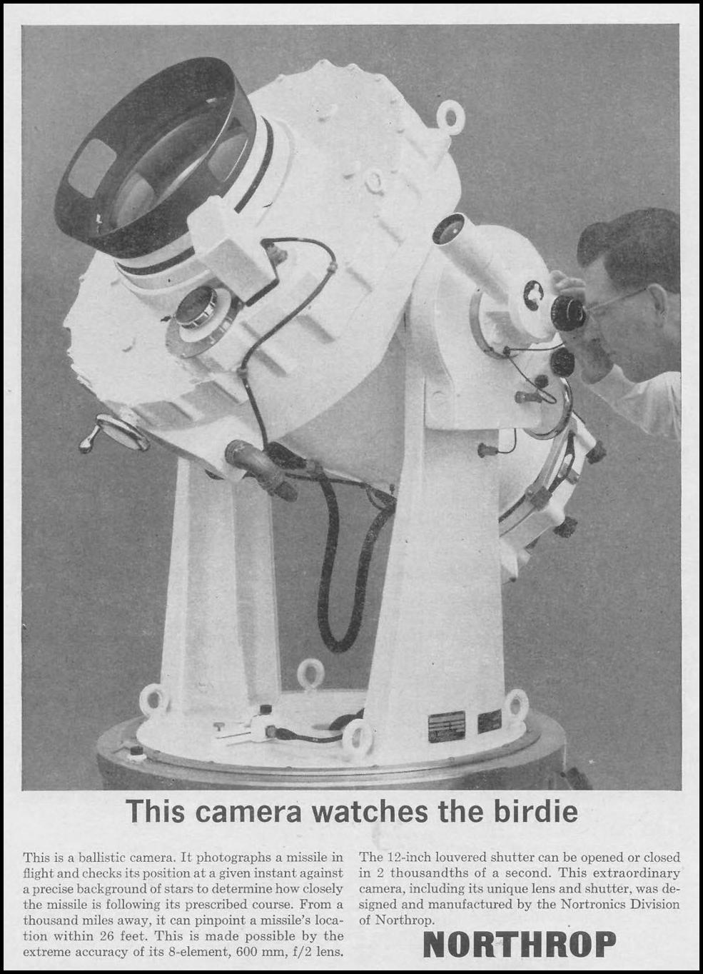 NORTRONICS BALLISTIC CAMERA TIME 11/17/1961 p. 73
