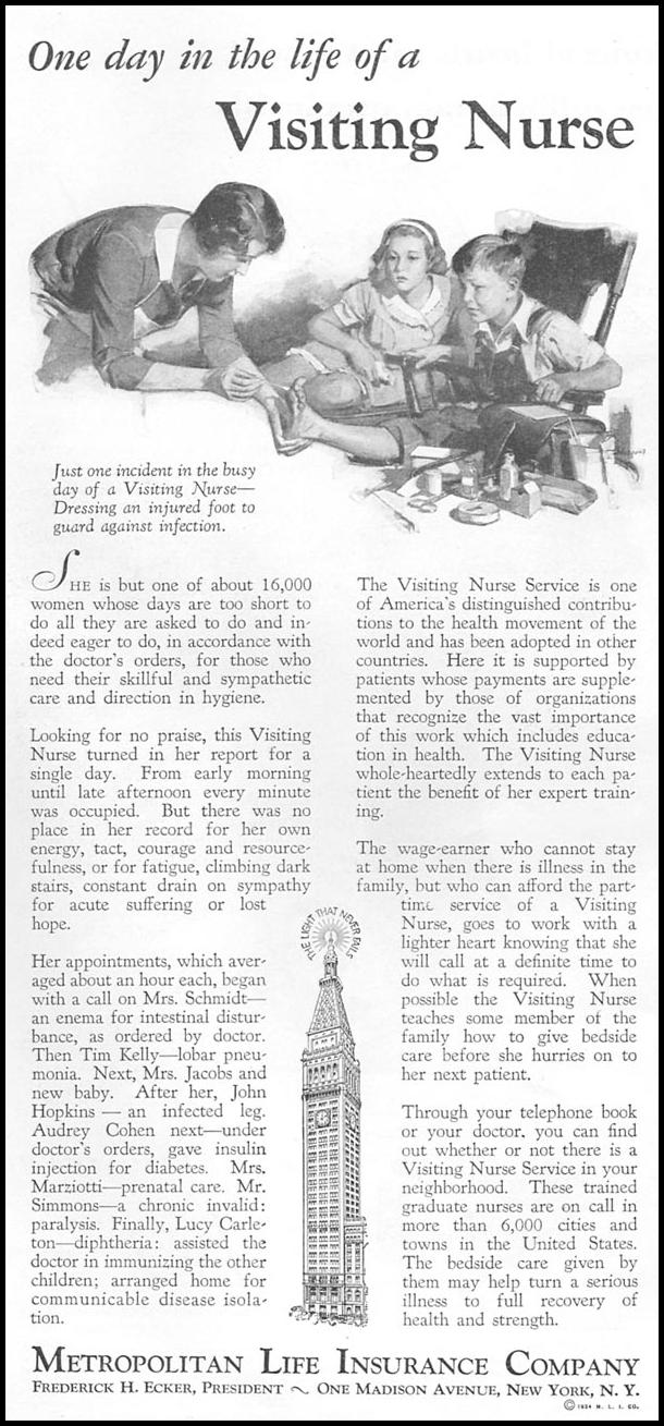 VISITING NURSE SERVICE GOOD HOUSEKEEPING 12/01/1934 p. 106