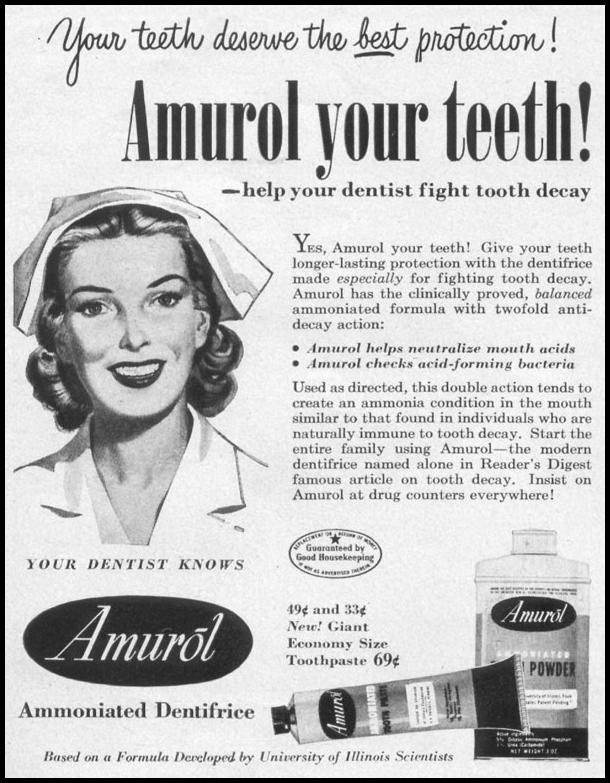 AMUROL AMMONIATED DENTIFRICE LIFE 06/05/1950 p. 104