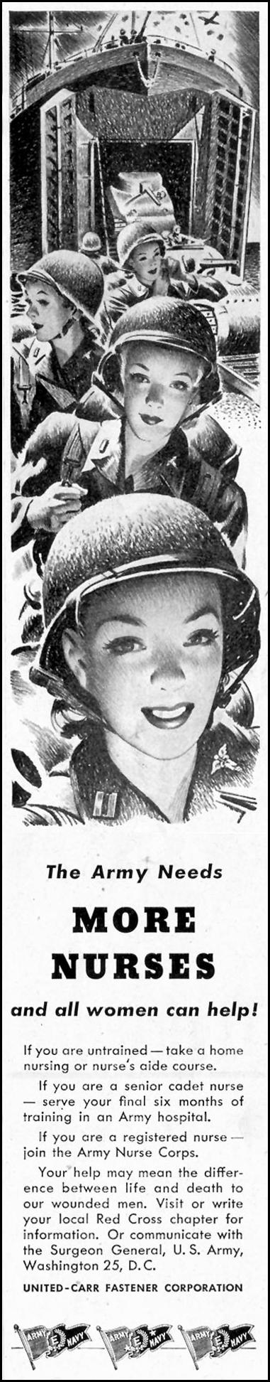 ARMY NURSES SATURDAY EVENING POST 05/19/1945 p. 51