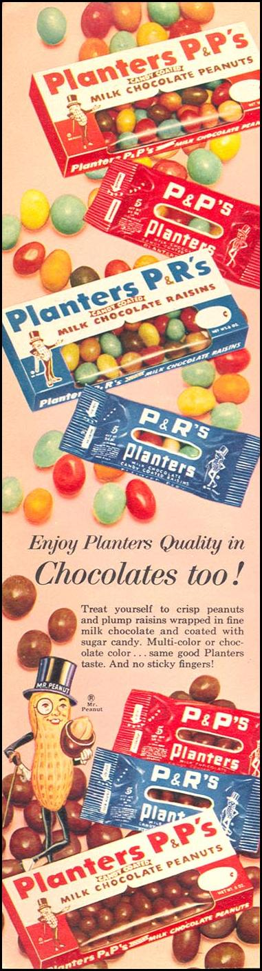 PLANTERS PEANUT CANDY WOMAN'S DAY 06/01/1958 p. 82