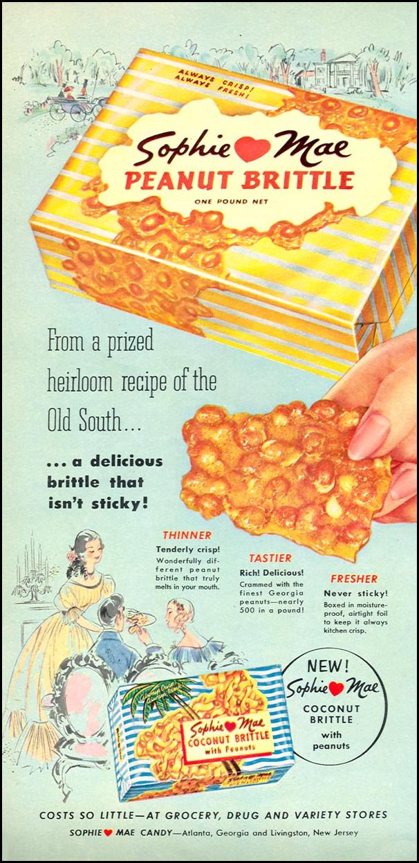 SOPHIE MAE PEANUT BRITTLE WOMAN'S DAY 09/01/1955 p. 86