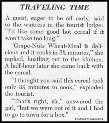 POST GRAPE-NUTS WHEAT MEAL WOMAN'S DAY 12/01/1948 p. 118