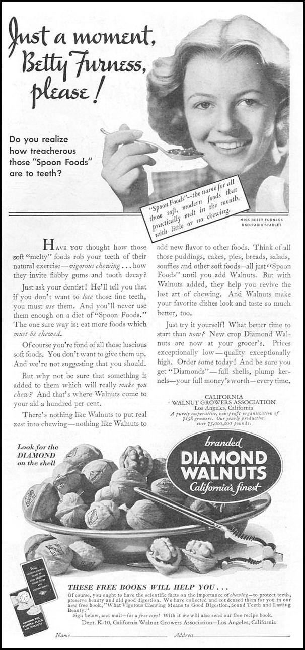 DIAMOND BRAND WALNUTS GOOD HOUSEKEEPING 12/01/1933 p. 151