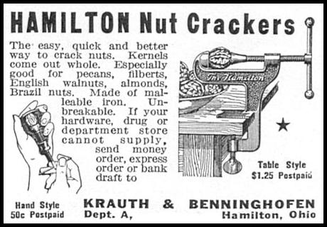 HAMILTON NUT CRACKERS GOOD HOUSEKEEPING 12/01/1933 p. 172