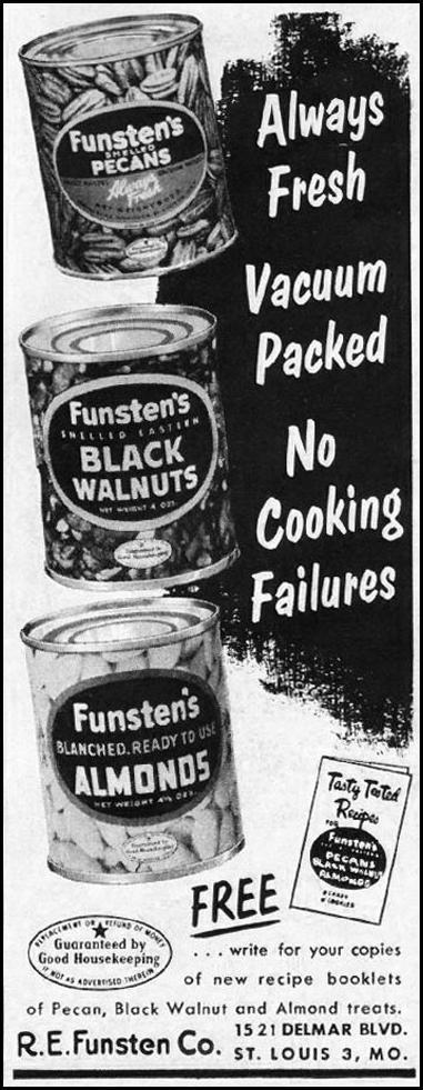 FUNSTEN'S NUTS WOMAN'S HOME COMPANION 12/01/1952 p. 123