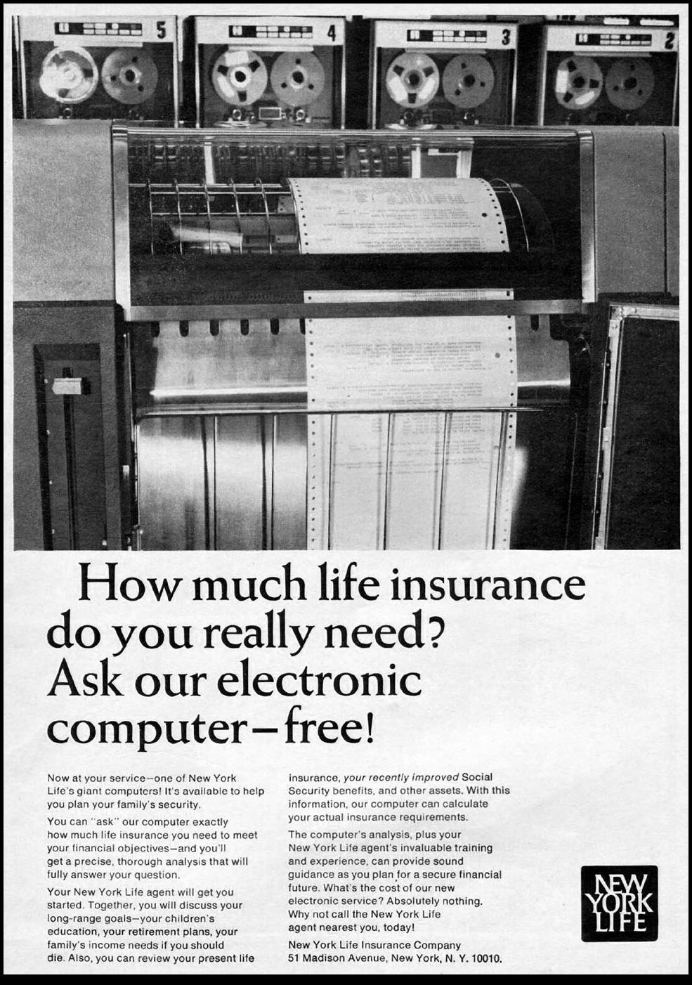 LIFE INSURANCE NEWSWEEK 10/12/1964
