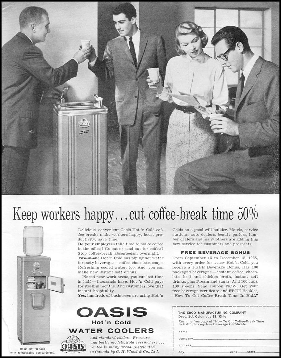 OASIS HOT 'N COLD WATER COOLERS TIME 09/15/1958 p. 5
