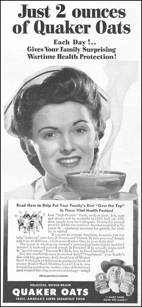 QUAKER OATS WOMAN'S DAY 04/01/1943 p. 53