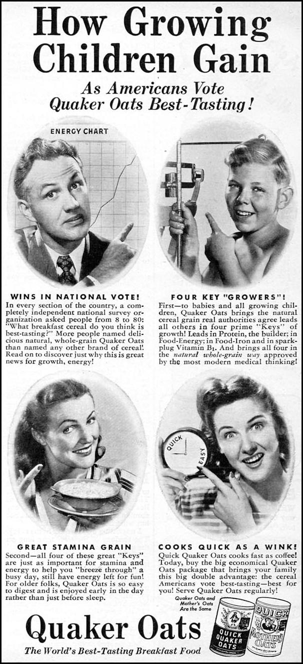 QUAKER OATS WOMAN'S DAY 11/01/1946 p. 91