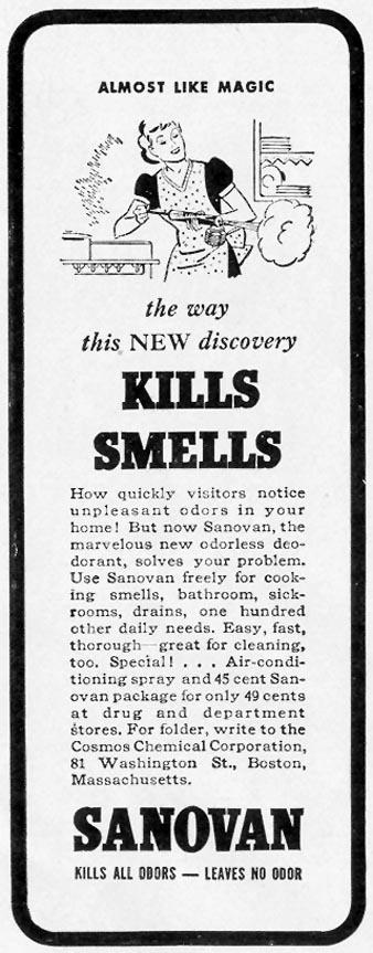 SANOVAN HOUSEHOLD DEODORANT LIFE 10/04/1937 p. 114