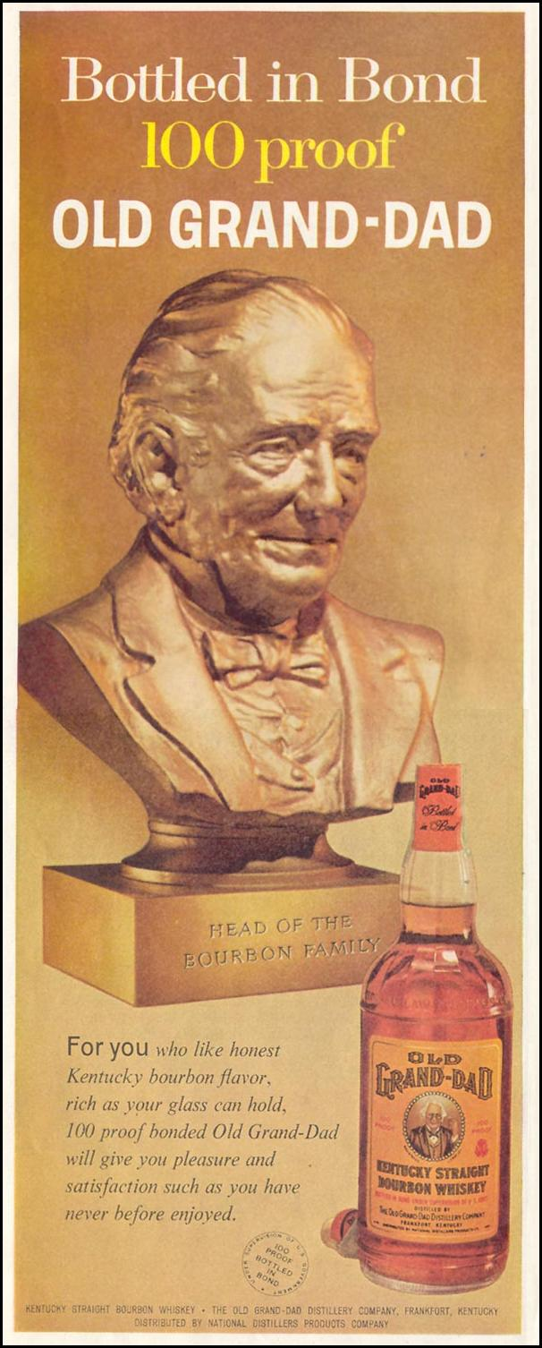 OLD GRAND-DAD BOURBON WHISKEY SATURDAY EVENING POST 08/15/1959 p. 60