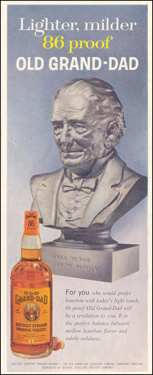 OLD GRAND-DAD BOURBON WHISKEY SATURDAY EVENING POST 08/15/1959 p. 61