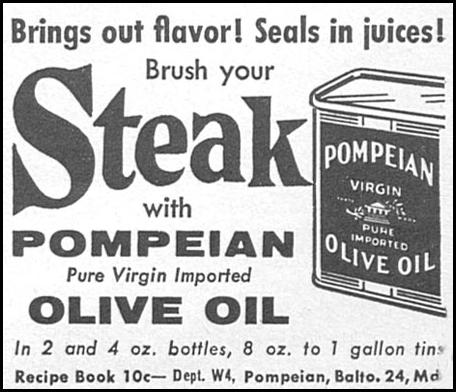 POMPEIAN OLIVE OIL WOMAN'S DAY 04/01/1956 p. 122