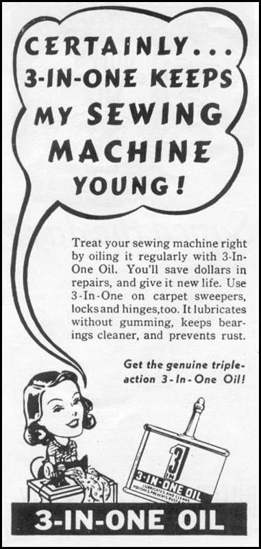 3-IN-ONE OIL WOMAN'S DAY 06/01/1939 p. 49