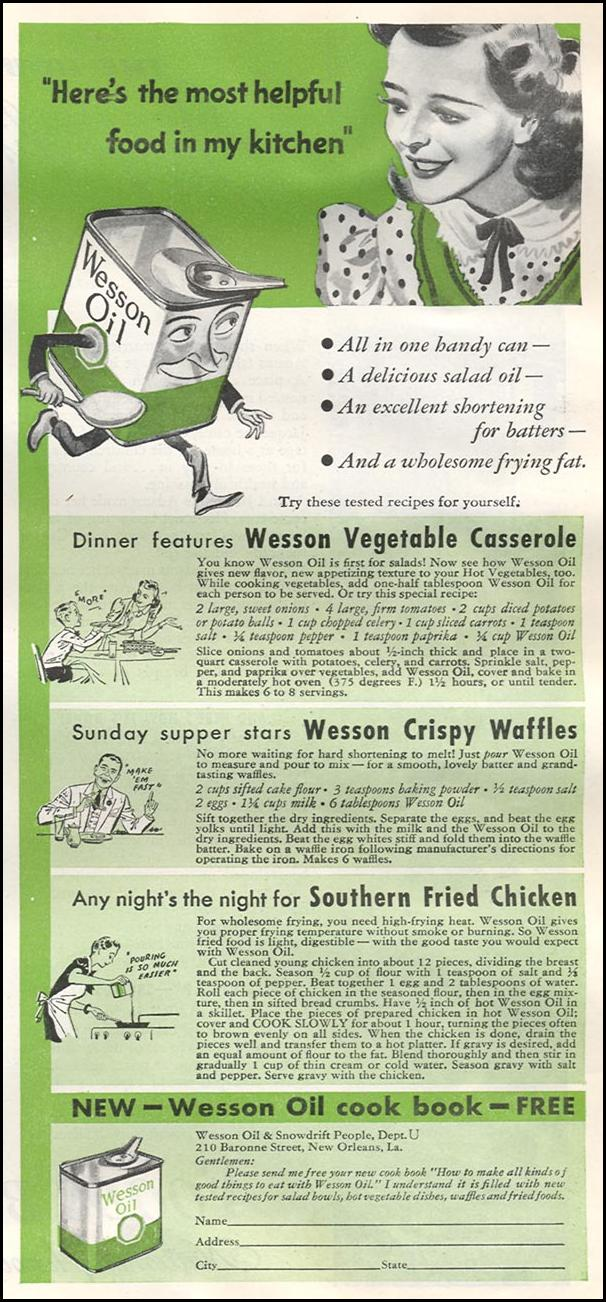 WESSON OIL WOMAN'S DAY 10/01/1939 p. 33