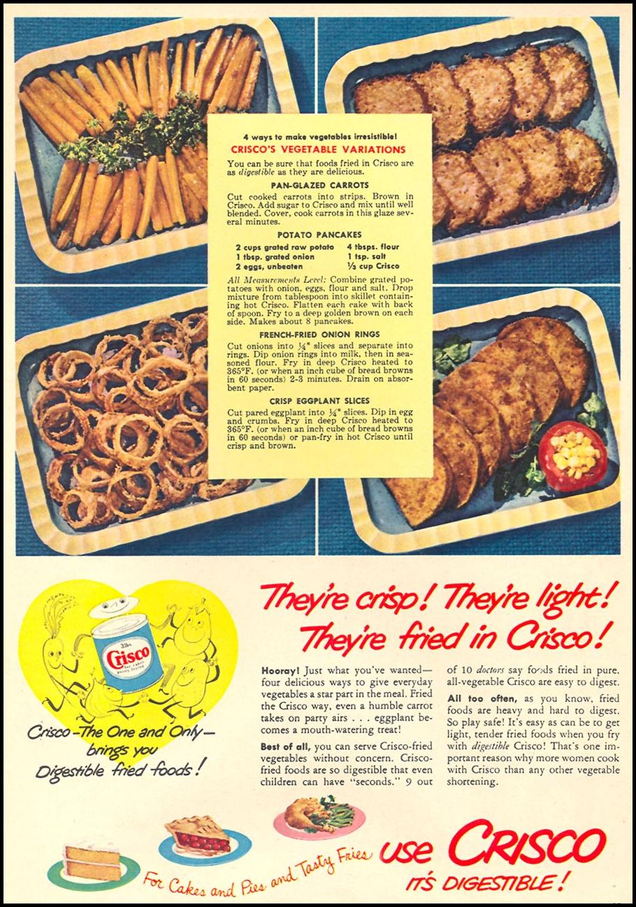 CRISCO VEGETABLE SHORTENING WOMAN'S DAY 10/01/1949 p. 35